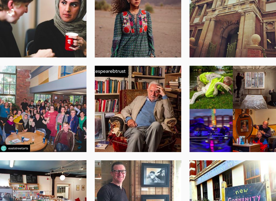 A screenshot of Ort Gallery's instagram grid